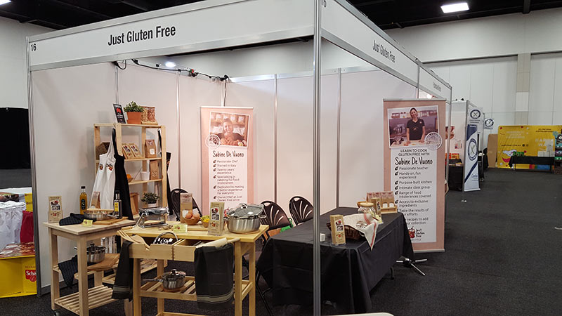Just Gluten Free Stand and Gluten Matters Expo Adelaide